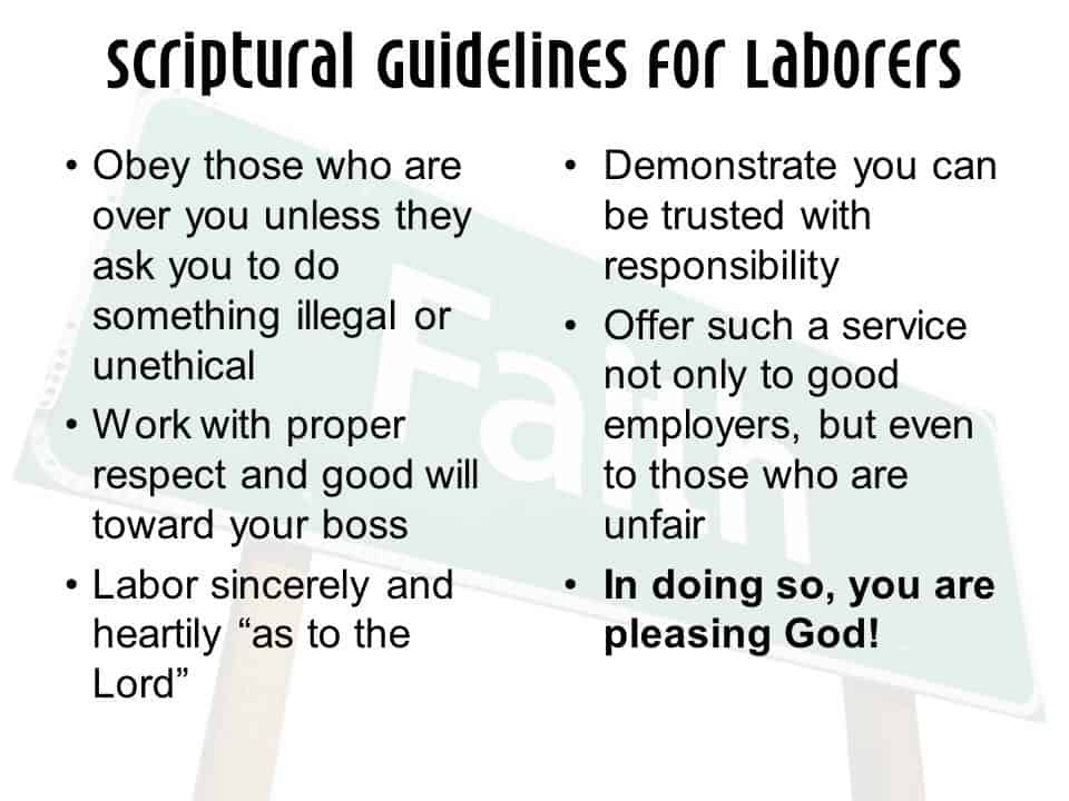 Serve Your Employer, Honor God